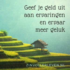 Geld uitgeven aan ervaringen maakt je gelukkiger zinvollerleven.nl
