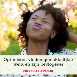 Optimisten vinden makkelijker werk en zijn bevlogener zinvollerleven.nl