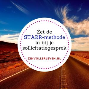 STARR bij sollicitatiegesprek zinvollerleven.nl