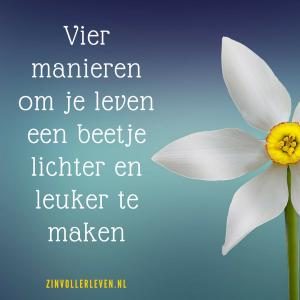 Lichter leven met deze vier tips zinvollerleven.nl