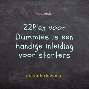 zzp voor dummies nuttige inleiding startende ondernemers zinvollerleven.nl