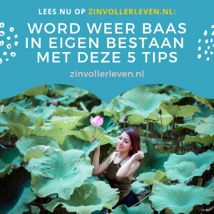 Baas in eigen bestaan zinvollerleven.nl