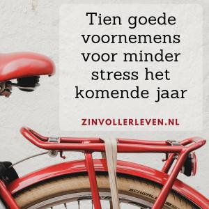 minder stress goede voornemens