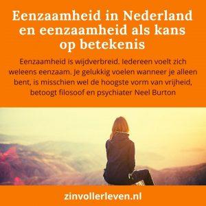 Eenzaamheid in Nederland eenzaamheid als kans op betekenis zinvollerleven.nl