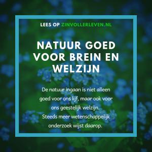 Natuur goed voor brein en welzijn zinvollerleven.nl